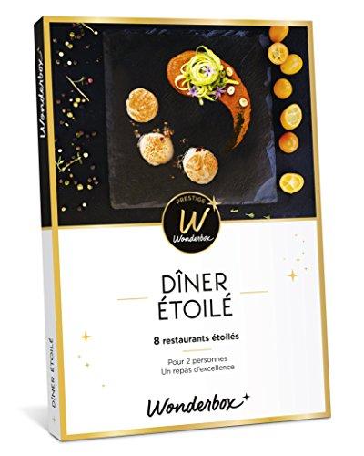 Wonderbox - Coffret cadeau prestige pour Noel - DINER ÉTOILÉ - 8 restaurants...