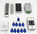 Imported 1000-user RFID Access Control System Kit w/ Magnetic Lock ID Keyfob Doorbell