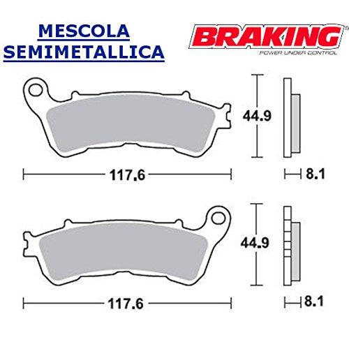 COPPIA PASTIGLIE ANTERIORE BRAKING PER HONDA SW-T4002010 10
