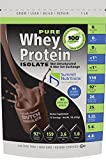 #9: Non-GMO Pure Whey Protein Isolate: 1 lb - Dutch Chocolate - Instanized to Easy Mixing: Lactose Free: Kosher Certified: Naturally Flavored: Sweetened by Stevia: Gluten Free: Highest BCAAs and Glutamines: Zero Fat, Cholesterol, Carbohydrates, Fillers and Binders