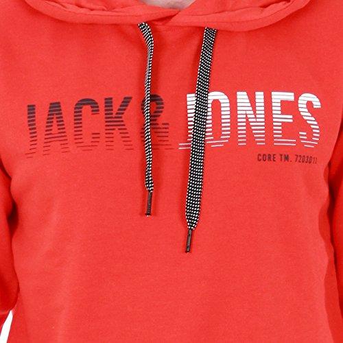 JACK & JONES Jcolinn Sweat Hood Noos, Cappuccio Uomo Rosso