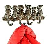 Garderobe Hund Kleiderhakenleiste mit Hundemotiv Kleiderhaken Wandhaken Hund - Tinas Collection - Das etwas andere Design