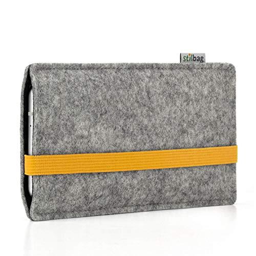 Stilbag Custodia di feltro 'LEON' per Nokia 5.1 Plus - Colore: giallo - grigio