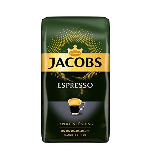 Jacobs Kaffeebohnen Expertenröstung Espresso Bohnen, 1 kg Bohnenkaffee