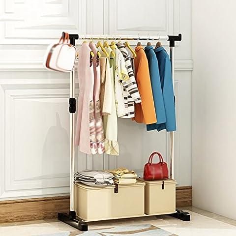 stabil Mantel Racks Edelstahl Landung Regal Thicker Kleiderbügel Schlafzimmer Mobile Trocken Racks Incorporated Einfach und elegant ( größe : 71*40.5*79cm )