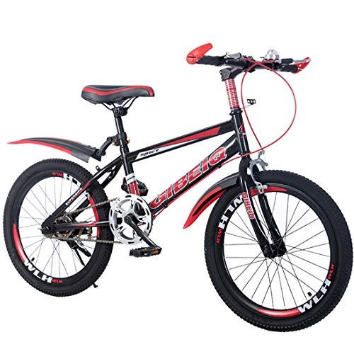 GRXXX Fahrrad 20 Zoll Bremsen Geschwindigkeit Mountainbike Erwachsene Student Car Männer und Frauen,Red-24 inch -