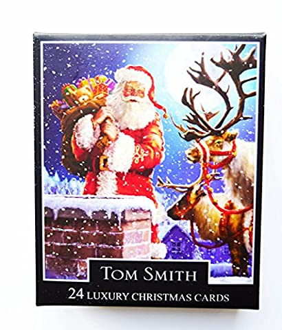 Christmas Cards Chimney Scene Bumper Boxed 24 Pack Luxury Xmas Tom Smith