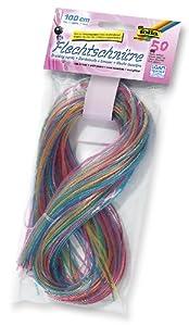 Folia 732050 - Cintas de plástico transparente con purpurina para hacer pulseras (50 unidades de colores) Importado de Alemania