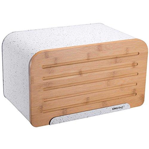 King Hoff acier 1246 Exalte Boîte à pain Boîte à pain de KH Boîte à pain avec planche à découper