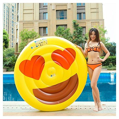 aoeiuv Cara Sonriente Grande Fila Inflable Inflable Del Agua/Sonrisa Irónica/Diámetro (El 150Cm),...