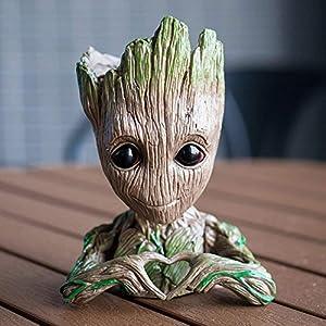 Meiqils Maceta Groot Flower Pot, Guardianes de la Galaxia Figura Groot Maceta y Caja de Lápices Plumas para Niña Niños… 5