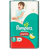 PAMPERS Baby-Dry Pants Couches Taille 5 (Junior) 12-18 kg x 36