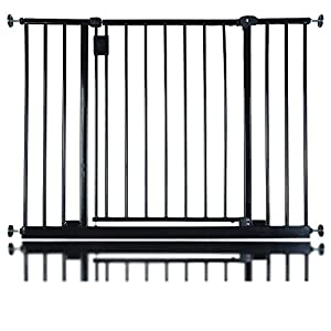 Safetots Extra Wide Hallway Gate, 97 to 103 cm, Black   3