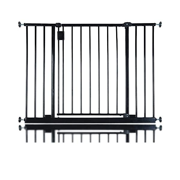 Safetots Extra Wide Hallway Gate, 97 to 103 cm, Black Safetots Pressure fitted Height: 73cm Gate fits standard width: 97cm - 103cm 1
