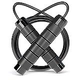 OMID Cordes à Sauter Poignée Anti-Glissant Réglable 3 m câble Jump Skipping Rope en Mousse à mémoire pour Fitness, Boxe, Double Unders, Crossfit, Gym