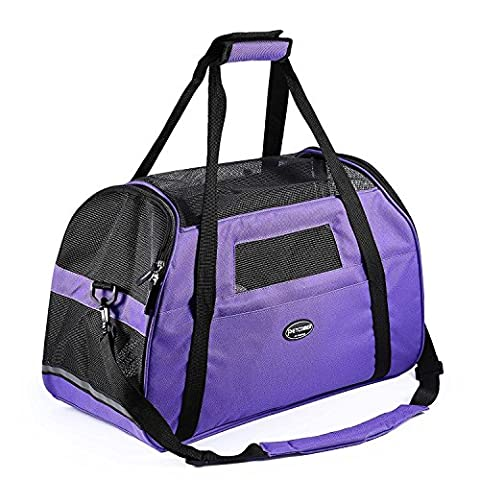 Pet Carrier for Dogs & Cats Breathable Mesh Travel Soft Sided Tote Shoulder Bag for Pets (L 19