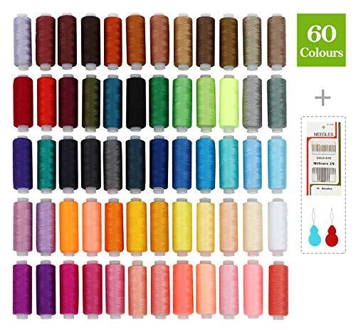SOLEDI Kit Costura Bobinas 60 Hilos Colores Coser