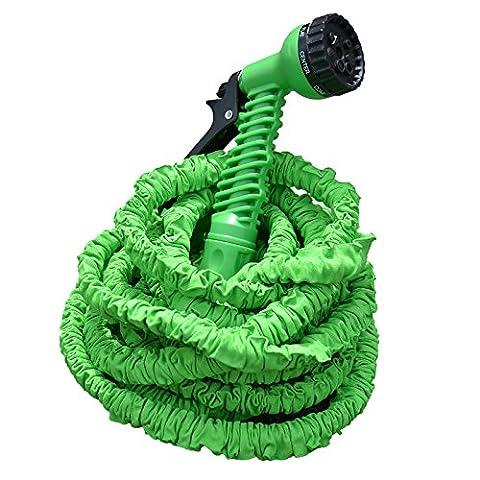 Profi Gartenschlauch Set AQUA PRO | flexibel - leicht - platzsparend | 2-fach Schlauch für hohen Druck | 7 Brause Funktionen | grün 22,5 m