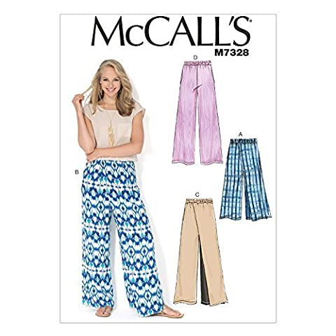 McCall's Patterns M7328 Misses' Wide-Leg Pants, ZZ (Large-X-Large-XX-Large) by McCall's Patterns