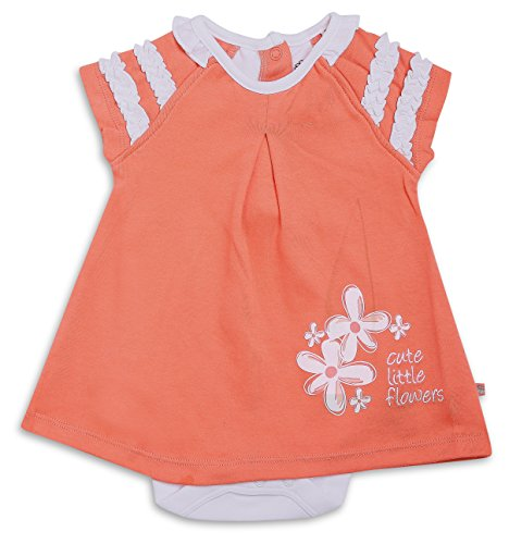 FS Mini Klub Baby Girls' Dress (83081E CO3-6M, Red, 3-6 Months)  available at amazon for Rs.219