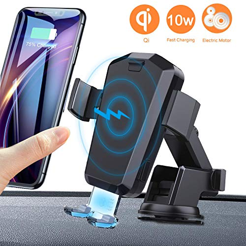 Caricatore Wireless Auto Automatico 10W Qi Caricabatterie Ricarica Rapida Adatto Supporto per iPhone Xs Max XR X 8 8 Plus, Samsung Galaxy S10 S10+S9 S9+ S8 Note 9