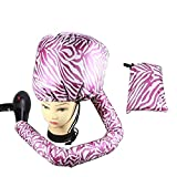 XYLUCKY Deluxe Softhood Bonnet Hair Dryer Attachment - Pink,3Pcs