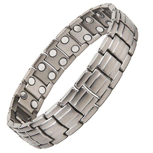 North South Titan TD11zweireihig magnetisch Link Armband mit GRATIS Luxus-Geschenk-Box + Demontagewerkzeug