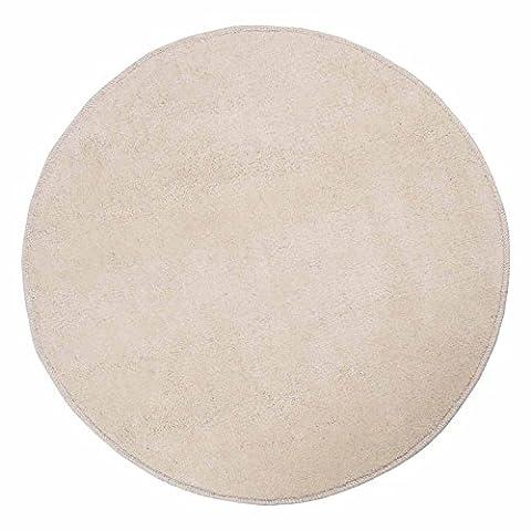 Homescapes Cream Round Cotton Tufted Rug 70 cm Circular Children Room Nursery or Interior Rugs