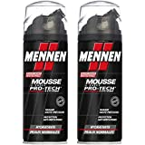 Mennen - Mousse à Raser Homme Pro-Tech Systeme Hydratante pour Peaux Normales - 250 ml - Lot de 2