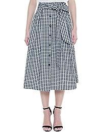 JANAK Women's Cotton Skirt (DN172, Black, 40)
