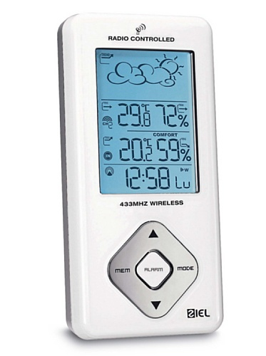Stazione Metereologica Ziel Polaris 65 - Barometro Termometro Igrometro Orologio Radio Controllato