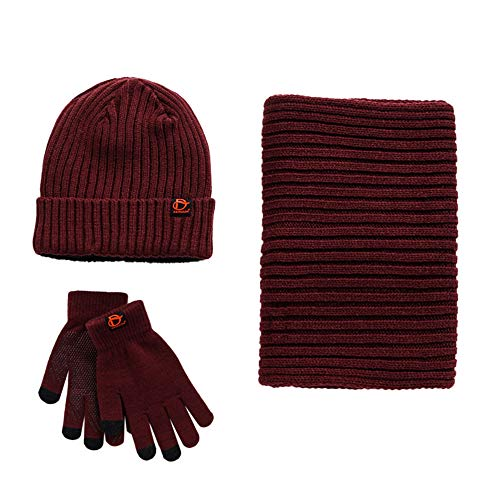 723fef2014758 Unisex Scarf Hat Glove Set-Soft Stretch Warm Knit Hat Cap Beanie Mitten  Scarves Touchscreen