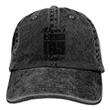 Touch My Hair in Black Font Cowboy Sports Hat Rear Cap Adjustable Cap ABCDE08579