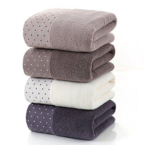 Luxus 100% Baumwolle Jumbo Bad Blätter Extra Große Handtücher Ballen, Weiche, Saugfähige Comfort Cotton Machine Waschbar,Brown (Luxus-bad-blatt)