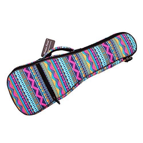 Music First Herbstkollektion 2.0 Tasche für Ukulele, Baumwolle, geometrisch gemustert 21 inch Soprano Pink Geometric (Baumwolle Tasche Zwei)
