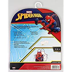 Spiderman Set Mandil et Bonnet Cuisine Ustensile de Cuisine Camping et Randonnée Unisexe Enfant (Multicolore) Unique
