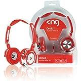 KNG Casque Audio Droid Rouge Blanc Jack 3.5 110dB Pour LG Optimus Black P970