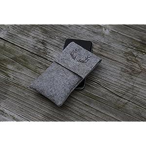 zigbaxx Handyhülle Handytasche Filz für iPhone 11 8 7 6 X Xs, iPhone 11 Pro Max 8 plus 7 6 Xs Max XR Smartphone-Hülle…