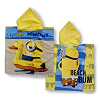 MINIONS DESPICABLE ME HOODED PONCHO BOYS GIRLS CHILDRENS KIDS CHILDS