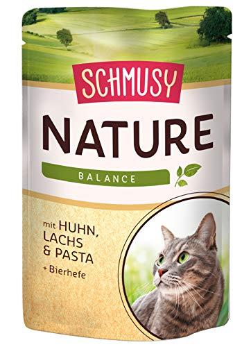 Schmusy Katzenfutter Nature Balance Huhn+Lachs 100 g, 24er Pack (24 x 100 g) (Huhn Balance)