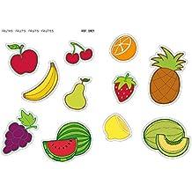 APLI Kids - Bolsa de gomets maxi frutas, 2 hojas A4 adhesivo removible