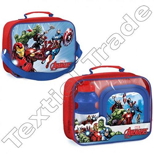 BETA SERVICE el51487 Marvel Avengers pique-nique Set, 3 pièces, plastique, multicolore, 15 x 25 x 12 cm