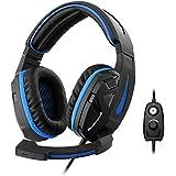 1Life 1IFEHSCYBER Stereo-Kopfhörer mit Mikrofon für Spieler schwarz/blau - gut und günstig