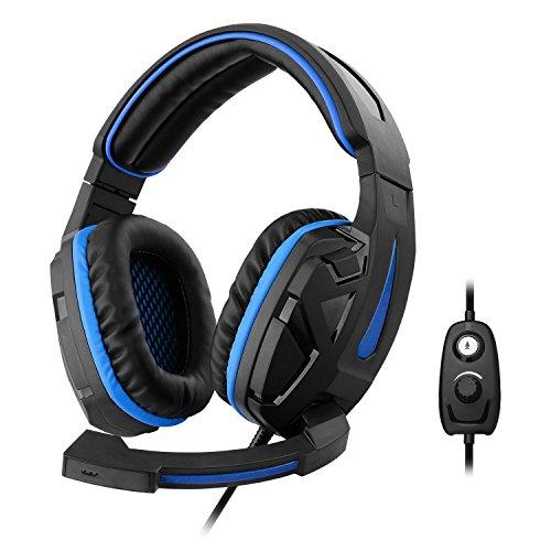 1Life 1IFEHSCYBER Stereo-Kopfhörer mit Mikrofon für Spieler schwarz/blau Preis