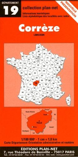 Carte routière : Corrèze
