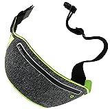 Slim Hüfttasche,ROCK Sport Hüfttasche Bauchtasche - Handy Jogging Tasche Fitness für iPhone X 8 7 6 Plus, huawei P20 Pro P20 Lite P20, Huawei mate 10 pro usw- grün
