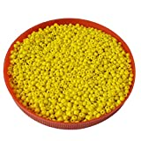 #9: eshoppee Yellow,gold family colors glass seed beads pot 100 gm (approx 2800 beads) for jewllery making and home decoration,DIY kit (yellow 40)