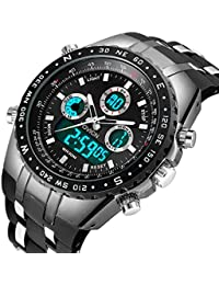 Homme analogique numérique montre de sport pour hommes militaire Big Face  électrique étanche montre numérique Chronomètre 62c22ebf457