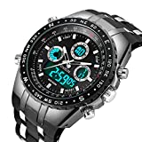Best Men Watches - Mens Analogue Digital Sports Watch Men Military Big Review