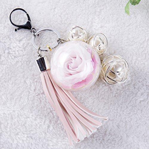NW 1776 handgemachte Blume Eternal Flower verblasst nicht Schlüsselbund, Plüschball, Kleidung und Accessoires Tasche Geschenk, Valentinstag, Muttertag, Weihnachten, Geburtstag, ()